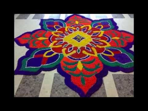Rangoli Design With Crystal Salt : Rangoli designs with Salt Sankranthi and pongal Special