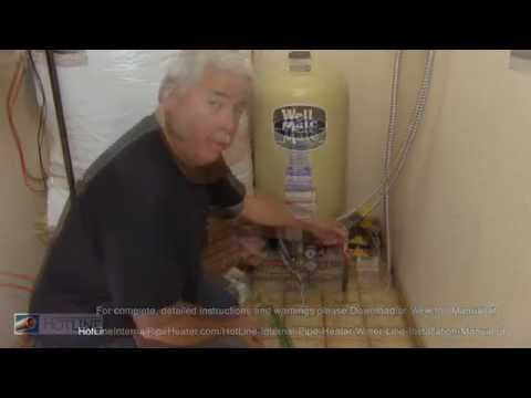 How To Prevent Water Pipes From Freezing - HotLine Water Pipe Heater Install