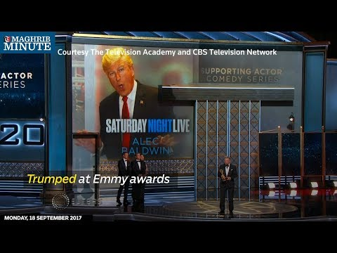Politics loomed large throughout Sunday's Emmy Awards