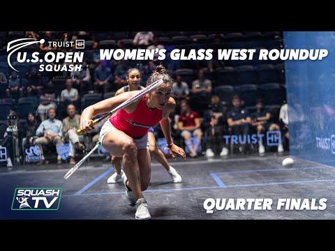 Squash: U.S. Open 2021 - Women's Glass West Roundup - Quarter Final
