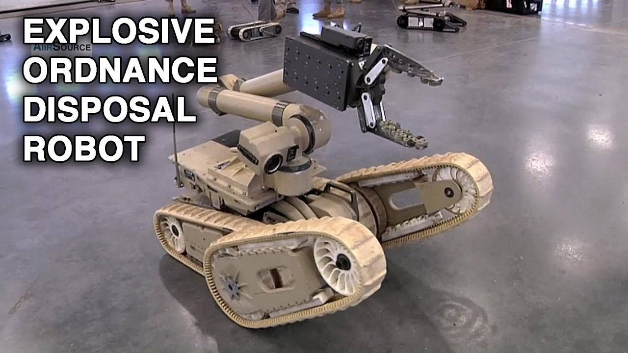 "From the Maker of Roomba: Explosive Ordnance Disposal Robot ""PackBot"""