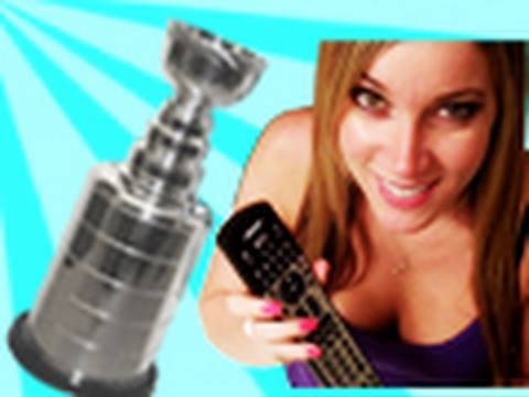 STANLEYCUP - FaceBook: http://www.facebook.com/pages/Jesse-Wellens/151417874094?ref=nf Girlfriend continuously shuts of the tv while her boyfriend is trying to watch the ...