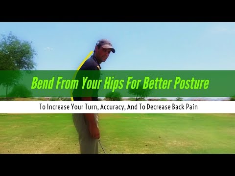 Golf lesson- The Setup- Posture and bending from the hips