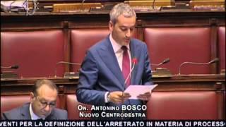 Intervento On.Nino Bosco su Giustizia