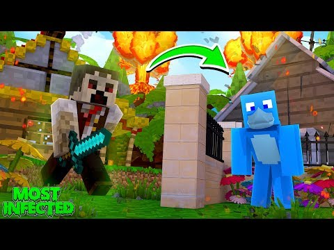 MOST INFECTED MURDER MYSTERY !! Minecraft W/ Sharky