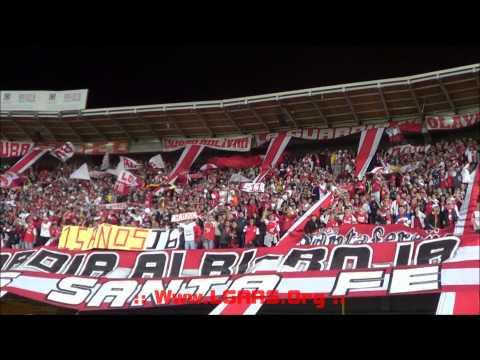 //Señores lo dejo todo..//Muchachos,traigan vino... //Santa Fe Vs Milllonarios- Copa Postobón 2014 - La Guardia Albi Roja Sur - Independiente Santa Fe
