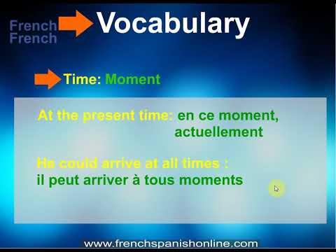 Zeit im Französischen