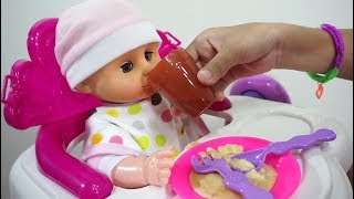 Mainan Anak Meja Makan Boneka Bayi 💖 Ngasih Makan Boneka Bayi Lucu 💖 Let's Play Jessica 💖