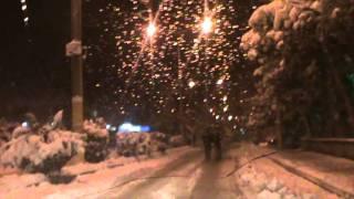bayat kar altinda çarşi merkezinde bir tur özeröz