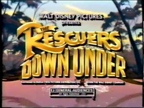 The Rescuers Down Under (1990) Teaser (VHS Capture)