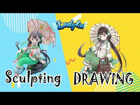 124】How To Make Anime Figure┃Food Fantasy Matcha Rice【Clay Tutorial┃Lovely4u】