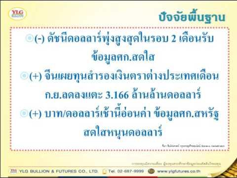 YLG บทวิเคราะห์ราคาทองคำประจำวัน 07-10-16