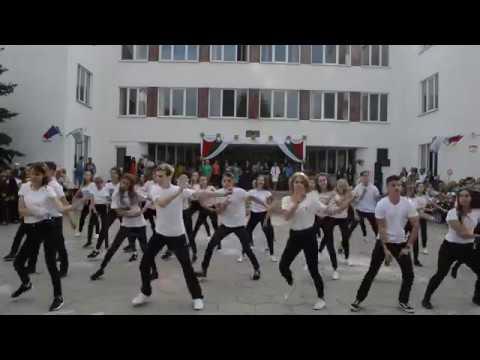 1 сентября 2017. Флешмоб старших классов (видео)
