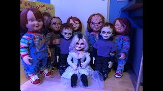 Life size chucky doll collection and child's play good guys