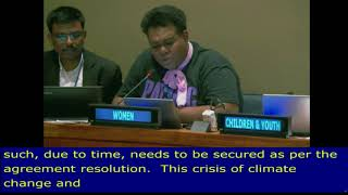 Amasai Jeke's Intervenion on SIDS at the HLPF 2018: UN Web TV