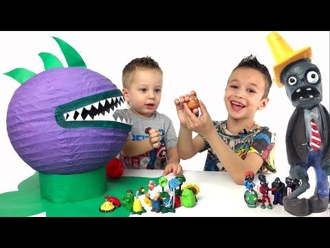 Растения против Зомби игрушки и испытания. Игра Plants vs Zombies (видео)
