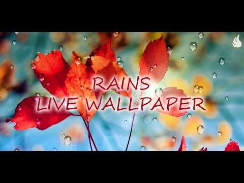 Video of Galaxy S4 Rain Live Wallpaper