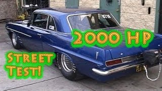 Beastly 2000 HP Pontiac Street Test Viral Video. Director\'s Cut. Nelson Racing Engines.