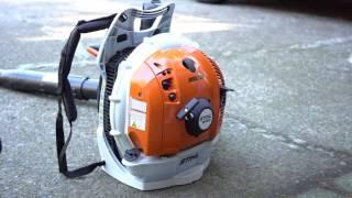 5. How to start cold engine of STIHL leaf blower