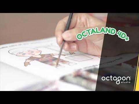 Octaland 4D+ Color Me! Coloring Book