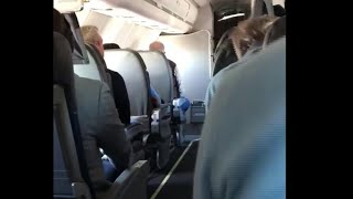Passenger captures the moment flight was told to