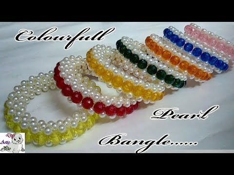 #56 How to make Pearl Beaded Bracelet or Bangle || Diy || Jewellery Making