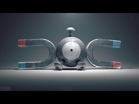 Speed Modeling a Pokémon: Magnemite (видео)