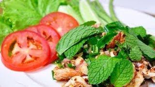 [Thai Food] Spicy Seafood Salad (Larb Ta-Lay)