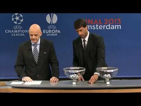 Sorteo Semifinales Champions League 2012-13 HD