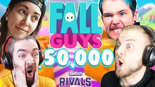 $50,000 FALL GUYS TOURNAMENT!! W/DanTDM, Jacksepticeye & Gab Smolders! (TWITCH RIVALS)