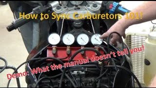 9. How to sync carburetors throttle bodies the right and WRONG way!