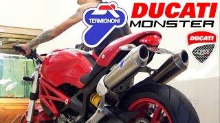 7. Ducati Monster 696 2012, Exhaust Termignoni Titanium SOUND (istimewa)