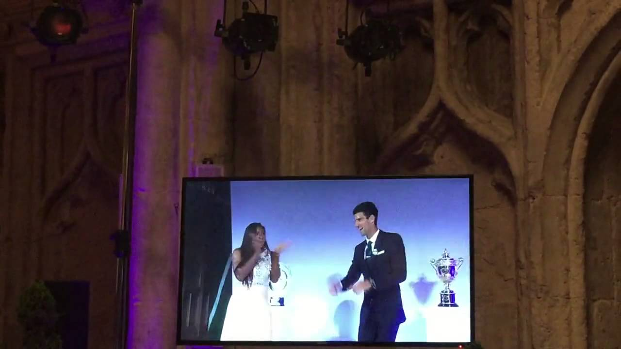 Night Fever dance for Djokovic and Williams