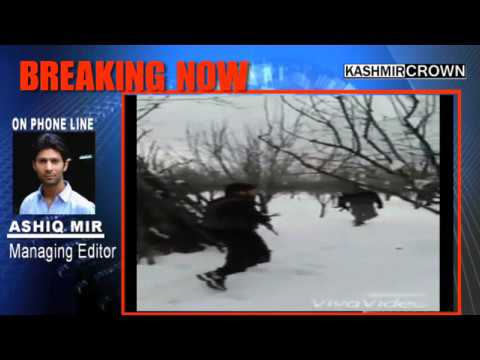 Kashmir Militants Patrolling in Snow