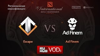 Ad Finem vs Escape, game 3