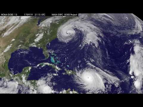 Δορυφορική λήψη του τυφώνα «Μαρία» και η γιγάντωσή του στο Πουέρτο Ρίκο