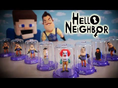 Hello Neighbor DOMEZ Blind Bag Case Toys Unboxing Plush Clown Funko Jumpscare Review Game Trailer (видео)