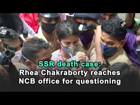SSR death case: Rhea Chakraborty reaches NCB office for questioning