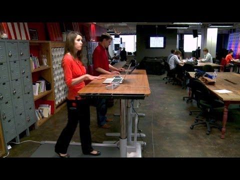 Laufband am Arbeitsplatz - für einen gesunden Rücken