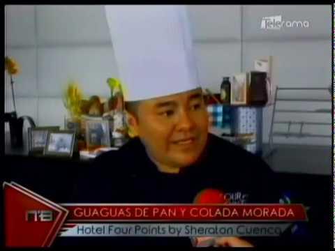 Guaguas de pan y colada morada Hotel Four Points by Sheraton Cuenca