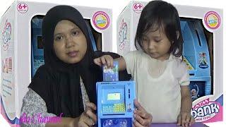 Mainan Anak Mesin ATM Mainan Tabungan Frozen Elsa & Anna
