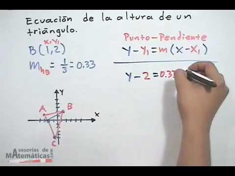 Gleichung der Höhe in einem Dreieck - analytische Geometrie (TEIL 1)
