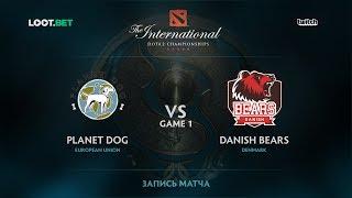 Planet Dog vs Danish Bears, Game 1, The International 2017 EU Qualifier