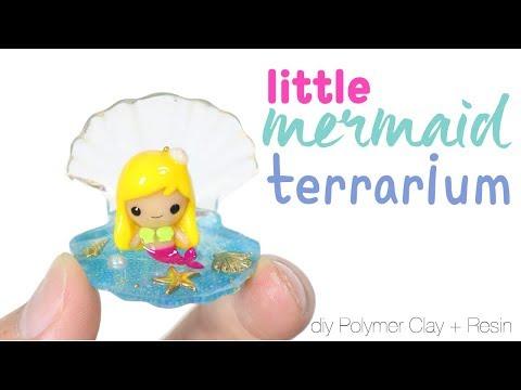 How to DIY Little Mermaid Sea Shell Terrarium Polymer Clay Resin Tutorial_Terrárium, Vivárium. Heti legjobbak