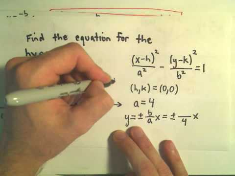 Finding the Equation for a Hyperbola Given the Graph – Example 1