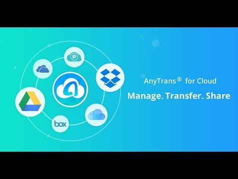 AnyTrans for Cloud - Your Smart and Secure Cloud Manager