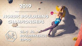 Nordic Bouldering Championships 2019 by Bouldering TV