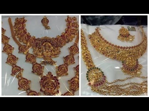 Bridal sets | Temple jewellery | Matte finish | antique bridal sets in sowcarpet