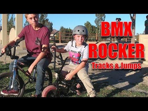 KIDS RIDING MINI BMX ROCKER ON TRACKS & JUMPS (видео)