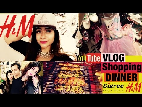 DIMPLE D'SOUZA - VLOG SHOPPING AT H&M / EASTER DINNER AT SIGREE chennai Youtuber